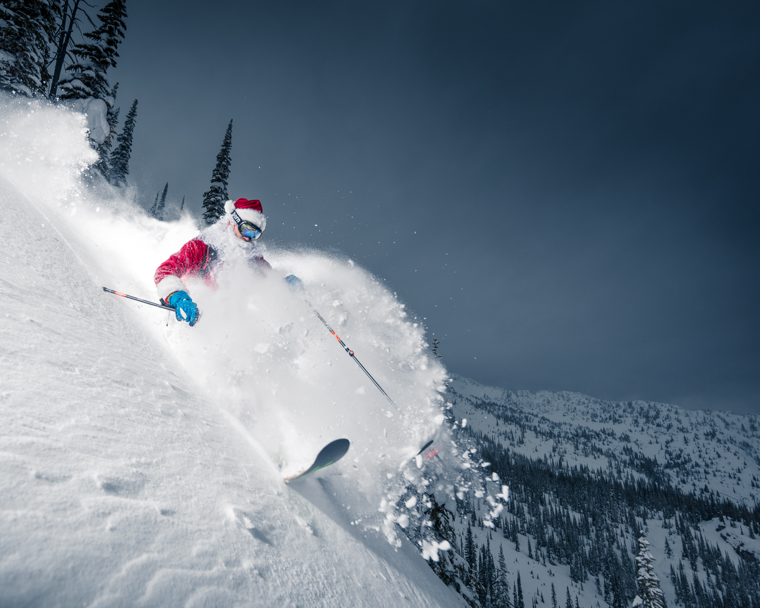 Santa goes catskiing at Valhalla Powdercats